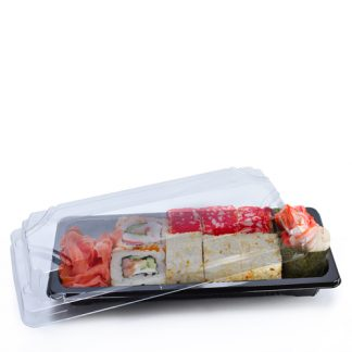 Medium sushi tray filled