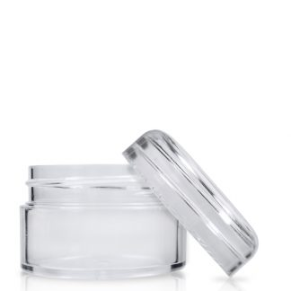 20ml Clear Plastic Cosmetic Jar With Lid