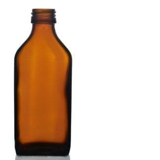 Vinatge 500ml amber glass rectangular bottle