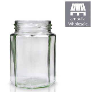 8oz Octagonal Glass Jars Wholesale